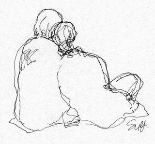 [...] Meu coração é um vago de acalanto berçando versos de saudade imensa. Não é maior o coração que a alma nem melhor a presença que a saudade. Só te amar é divino, e sentir calma...
