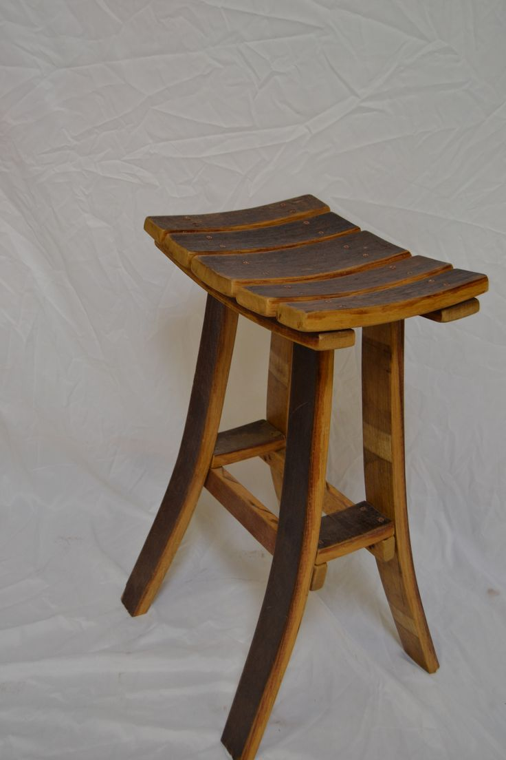 Barrel Stave Bar Stool Winebarrel Furniture Pinterest