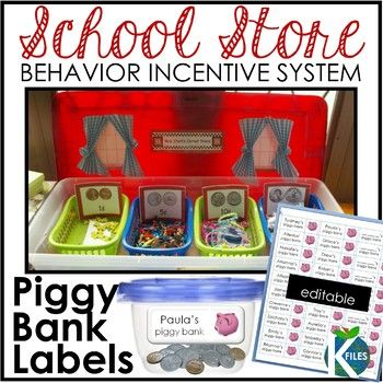 The students earn play coins when appropriate behavior is observed. This is an excellent way to point out desired behaviors in the classroom. Allow the students to serve as role models for their peers.  Included: Editable Template for Piggy Bank Labels (Word document)  This is also an excellent method to provide positive reinforcement for individual behavior modification plans. When a target behavior is observed, the student is reward with a coin.  This is also a hands-on way to introduce and re