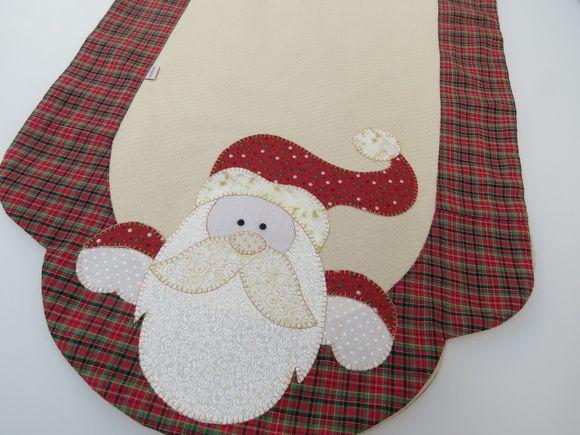 Caminho de mesa Papai Noel Moderno