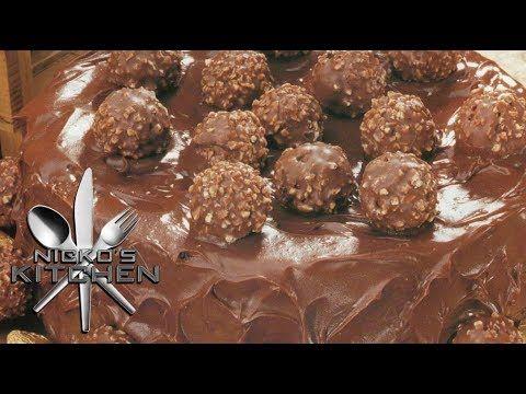 ▶ NUTELLA & FERRERO CHOCOLATE CAKE - Nicko's Kitchen - YouTube omg!!!!!!!!!!!!!!!!!!