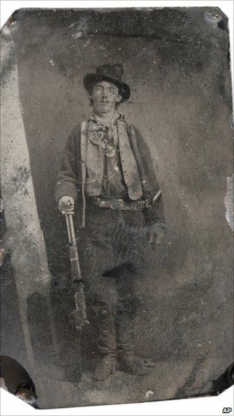 Billy The Kid - Portrait. This tintype photo is believed to have been taken in 1879 or 1880 in Fort Sumner, New Mexico.