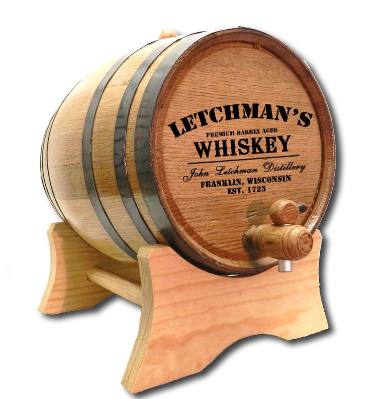 Northwest Gifts - Whiskey Distillery Barrel Personalized, $70.00 (http://northwestgifts.com/whiskey-distillery-barrel-personalized/)