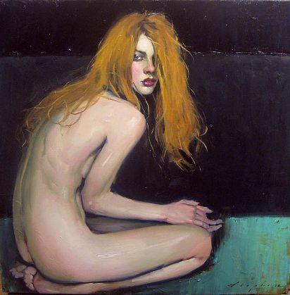 Malcolm Liepke-'Seated Nude'-Telluride Gallery of Fine Art