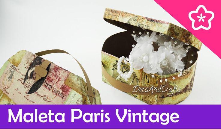 Maleta de Paris Vintage hecha de cartón - DecoAndCrafts