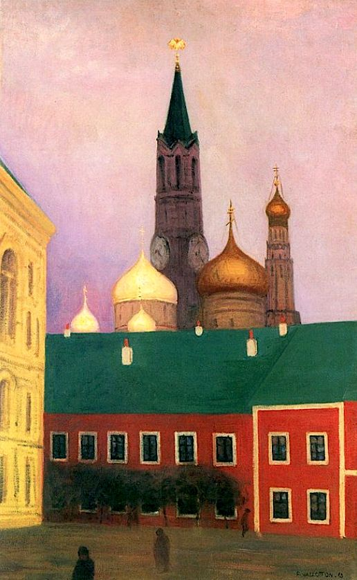 View of the Kremlin in Moscow / Felix Vallotton