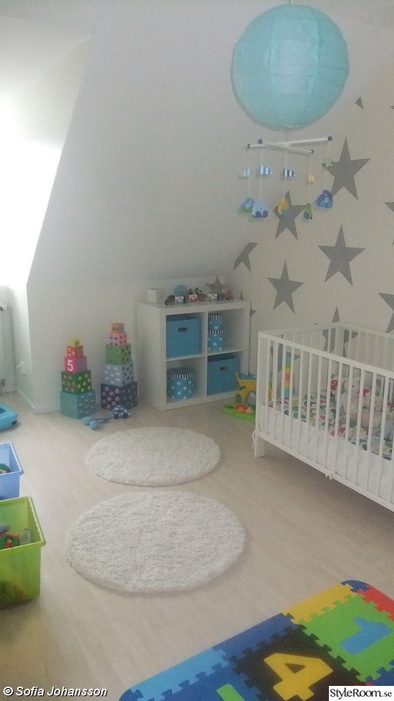 stars on the wall for a boy's nursery
