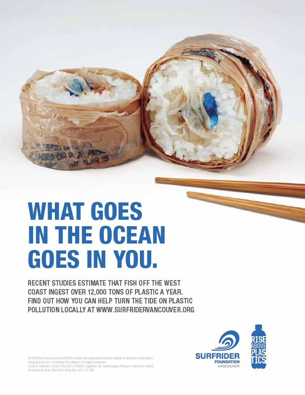 Sushi/Plastic Pollution Poster   GRA 217 Section 5 Group 2