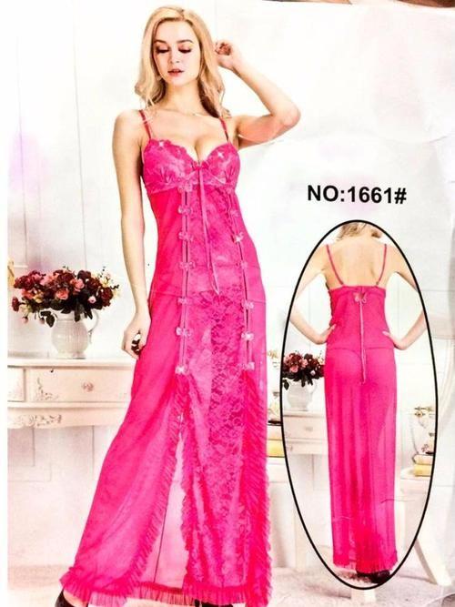 Long Net Nighty Sleeveless For Women - CPG-1661 - Nighty - diKHAWA Online  Shopping in Pakistan 9bae652fd