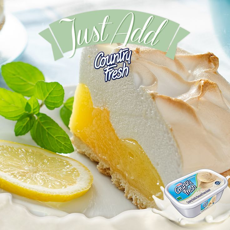 The delightful zesty lemon meringue is the perfect dessert for a hot Summer's day!  We think Vanilla Lite would be a great pairing but would you try a different Country Fresh flavour? #JustAddCountryFresh