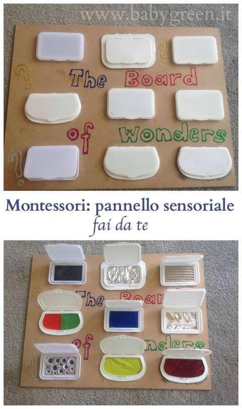 Pannello sensoriale Montessori (fai da te): occorrente e istruzioni.