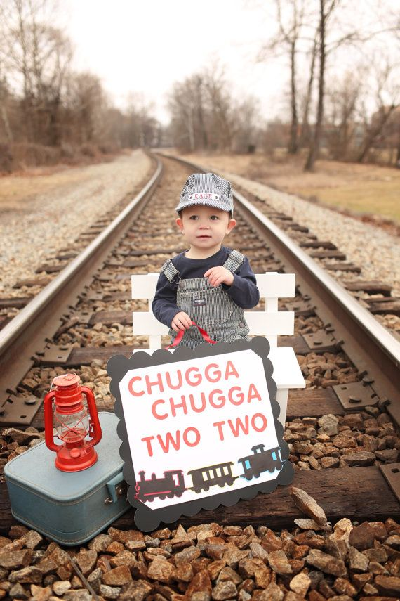 Train Photo Prop Hat Personalized Train Hat by AllAboardWhistle