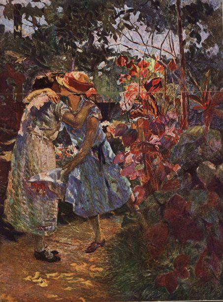 """""""A Visita"""".  (1927). (by Eliseu Visconti)."""