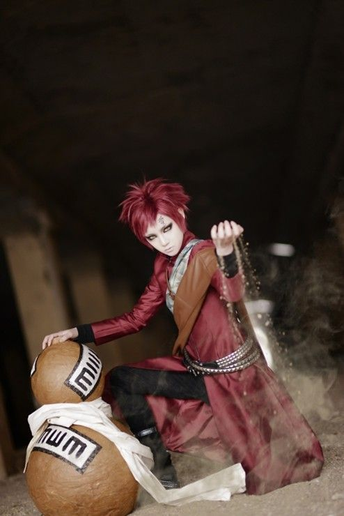 Naruto Gaara Cosplay. get the same cosplay costume at: http://www.eshopcos.com/naruto-shippuden-gaara-red-cosplay-costume-1309: