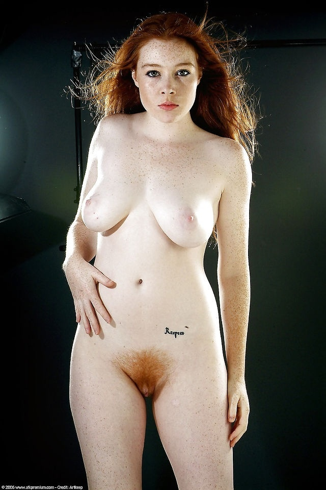 Nude red-haired women