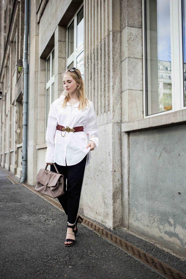 Ready for Fashionweek Berlin: Statement Gürtel und oversized Bluse | Outfit