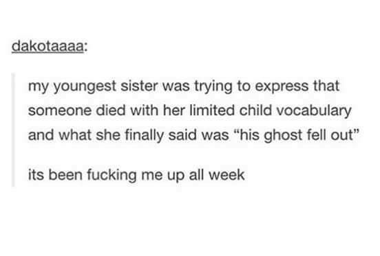 Death in a nutshell: | 36 Tumblr Posts That Will Make You Laugh Harder Than You Should