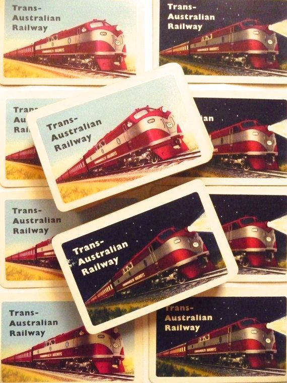 Vintage Playing Cards Commonwealth Railways Trans Australia