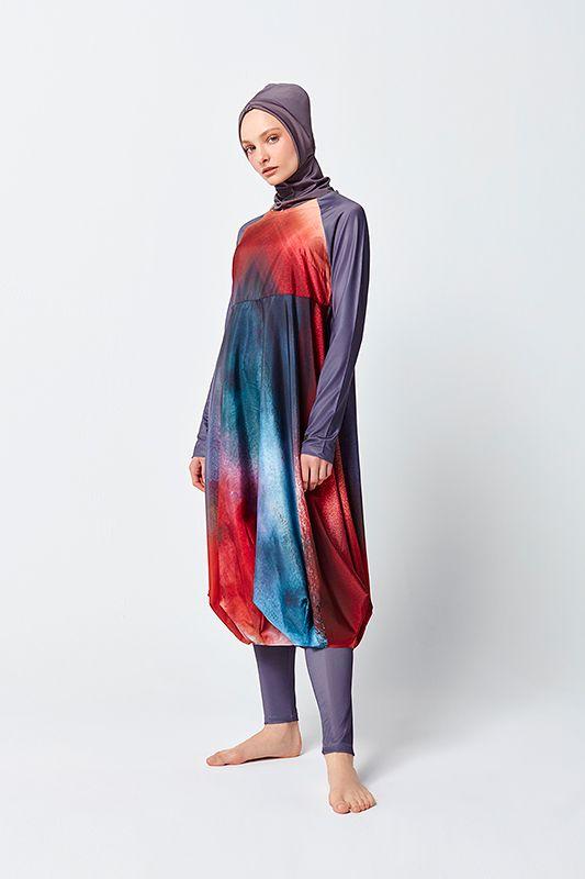 057edde9add Ombre Design Balloon Skirted Swimwear www.mayovera.com #burkini  #muslimswimwear #muslimahswimwear #islamicswimwear #burkinikopen  #burkinionline ...