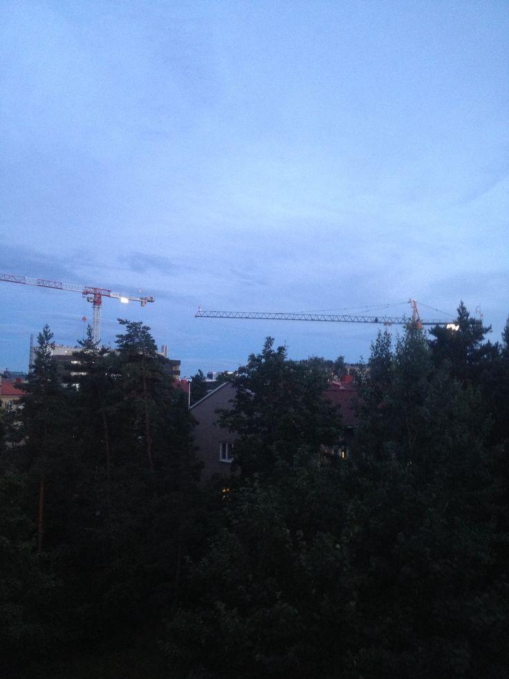 Meilahti view from my balcony.