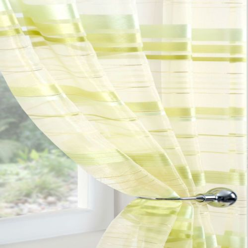 Green Curtains cream green curtains : Details about LIME GREEN CREAM ORGANZA Voile Net Sheer Curtain ...