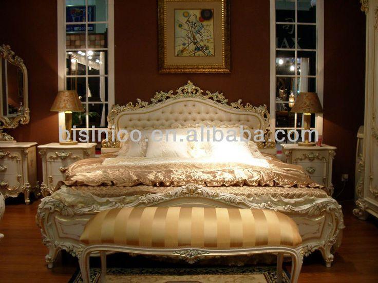 Itália estilo clássico europeu branco e cor de ouro king size quarto conjunto de móveis, Moq : 1 conjunto ( B1005 )-imagem-Camas-ID do produto:286480029-portuguese.alibaba.com
