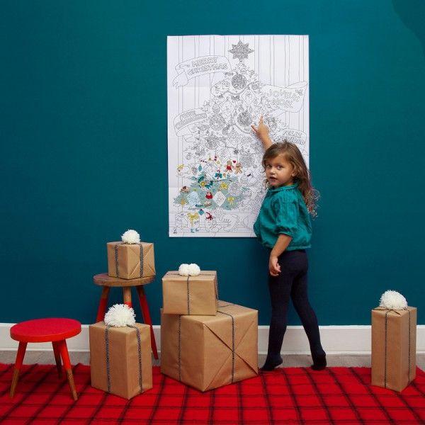 Poster Géant à Colorier Noël #christmas  #coloriage #enfant #noel