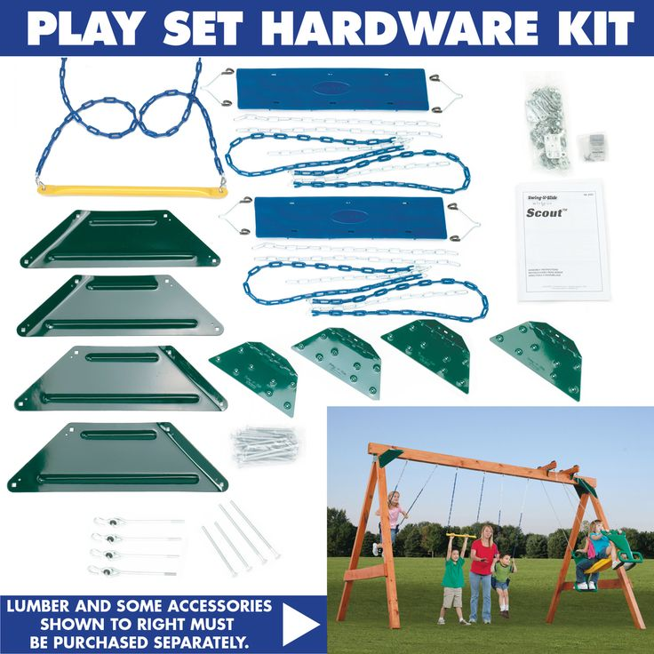 Swing-n-Slide Ready to Build Custom Scout Swing Set Hardware Kit & Reviews | Wayfair Supply