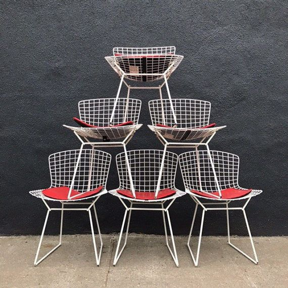 25 beste idee n over vintage stoelen alleen op pinterest shabby chic stoelen antieke - Knoll stoelen ...