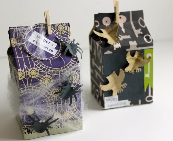 emma zangs jefferys embellished halloween milk cartons - Halloween Cartons