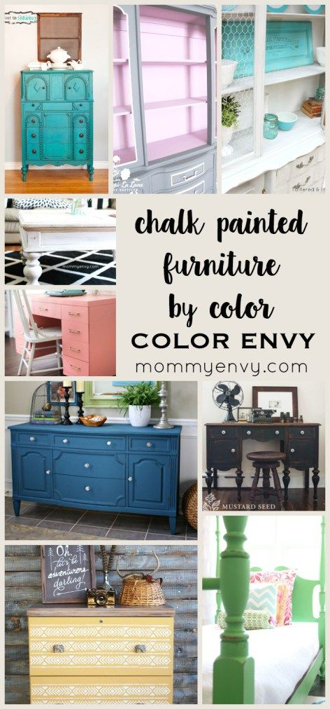 Chalk Painted Furniture by Color Series | www.mydiyenvy.com