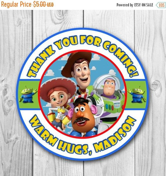 Welcome to CuteInvitation! Toy Story Labels - Toy Story Thank You Stickers - Toy Story Birthday Party Favors - Toy Story Printables - Toy Story