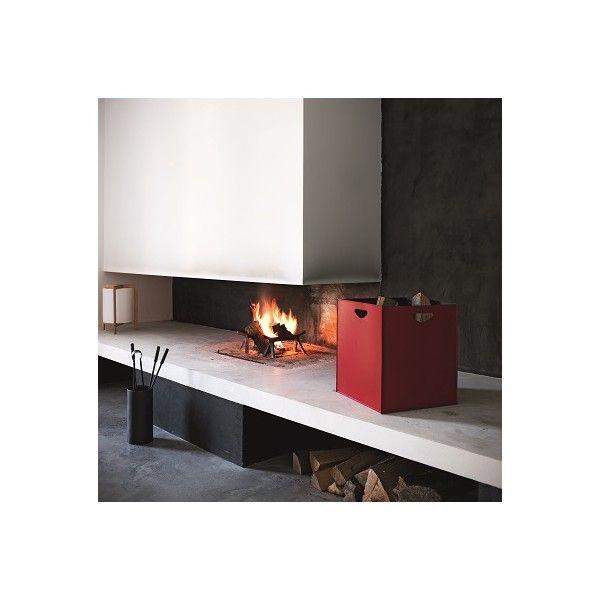 Shoolit - Firewood holder and Pellet Holder Leather Design. Made in Italy - mod. Marte