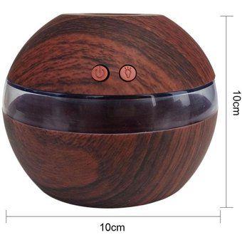 Oanda KOBWA Aire Aroma difusor del aceite esencial de aromaterapia ultrasónico LED humidificador de vapor (oscuro del grano de madera)