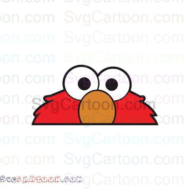 Elmo Peeking Face Sesame Street Svg Dxf Eps Pdf Png Elmo Sesame Street Cartoon Faces