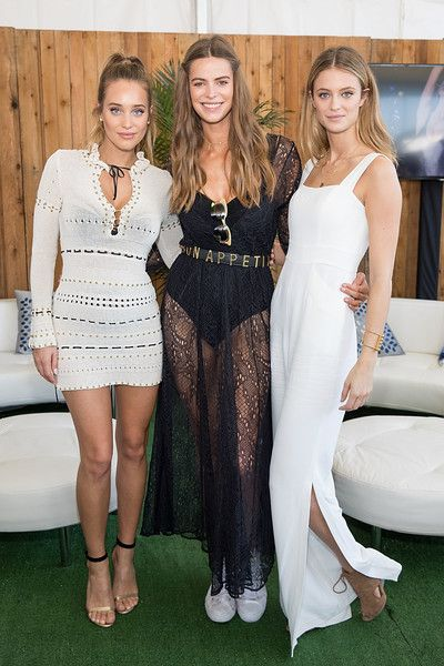 (L-R) SI Swimsuit models Hannah Ferguson, Robyn Lawley, and Kate Bock attend the VIBES by Sports Illustrated Swimsuit 2017 launch festival on February 18, 2017 in Houston, Texas.