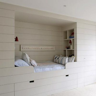 Alcove beds and build in closet closet