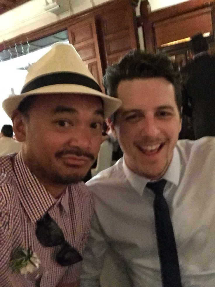 Andrejs and I at Gilda and Kuna's wedding