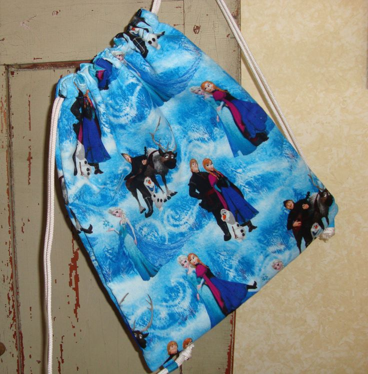Frozen Childs Drawstring Bag by EYPDesigns on Etsy