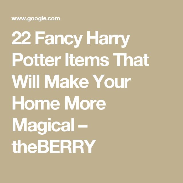 22 Fancy Harry Potter Items That Will Make Your Home More Magical – theBERRY