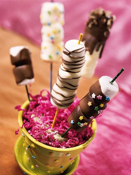 Dipped Marshmallow Sticks.