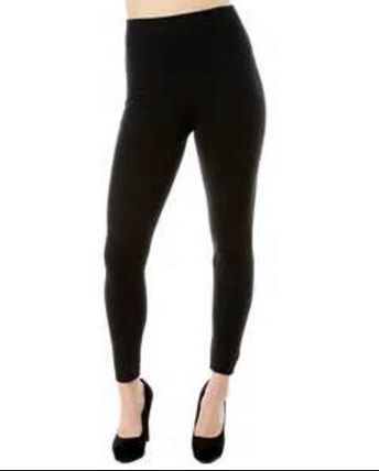 SOLID BLACK BUTTERY SOFT Ankle Leggings SIZE 12 -20 Leggings NEW FREE SHIPPING!