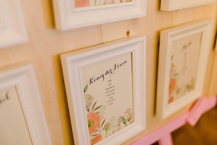 DIY Sitzplan / Tischplan bei der Hochzeit / Hochzeitsfeier mit Disney Filmen als Tischnamen. Foto: Ben Kruse