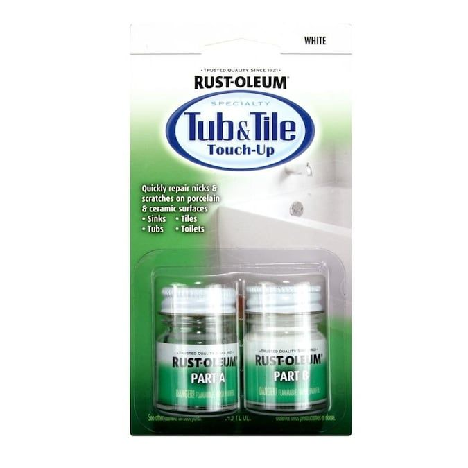 Rust Oleum Tub And Tile 0 45 Fl Oz White Tub And Tile Repair Lowes Com In 2020 Tile Refinishing Tub Tile Tile Repair