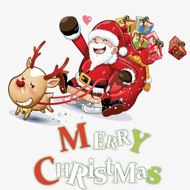 Le Pere Noel De Dessins Animes Dessin Le Pere Noel Traineau Png Et Psd Santa Claus Vector Santa Claus Images Merry Christmas Images