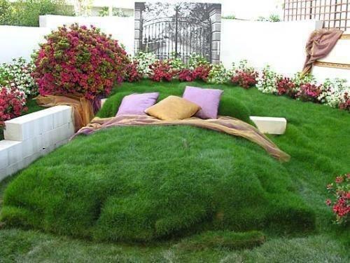 un giardino in camera da letto