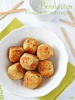 boulettes de poulet à l'estragon (pain dur, 2 yaourts de brebis )