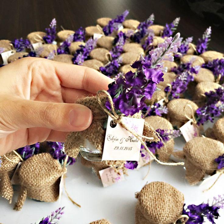 Kavanoz Nikah Şekeri/30 Adet Nikah töreninizde misafirleriniz için rustik bir alternatif..İçeriği badem.... 305517