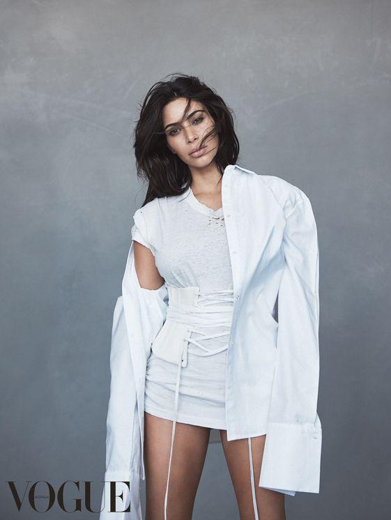 Kim Kardashian i Yeezy på forsiden av Vogue - Melk & Honning