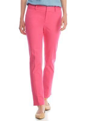 Crown & Ivy™ Women's Short Stretch Pants - Love Pink - 12 Average